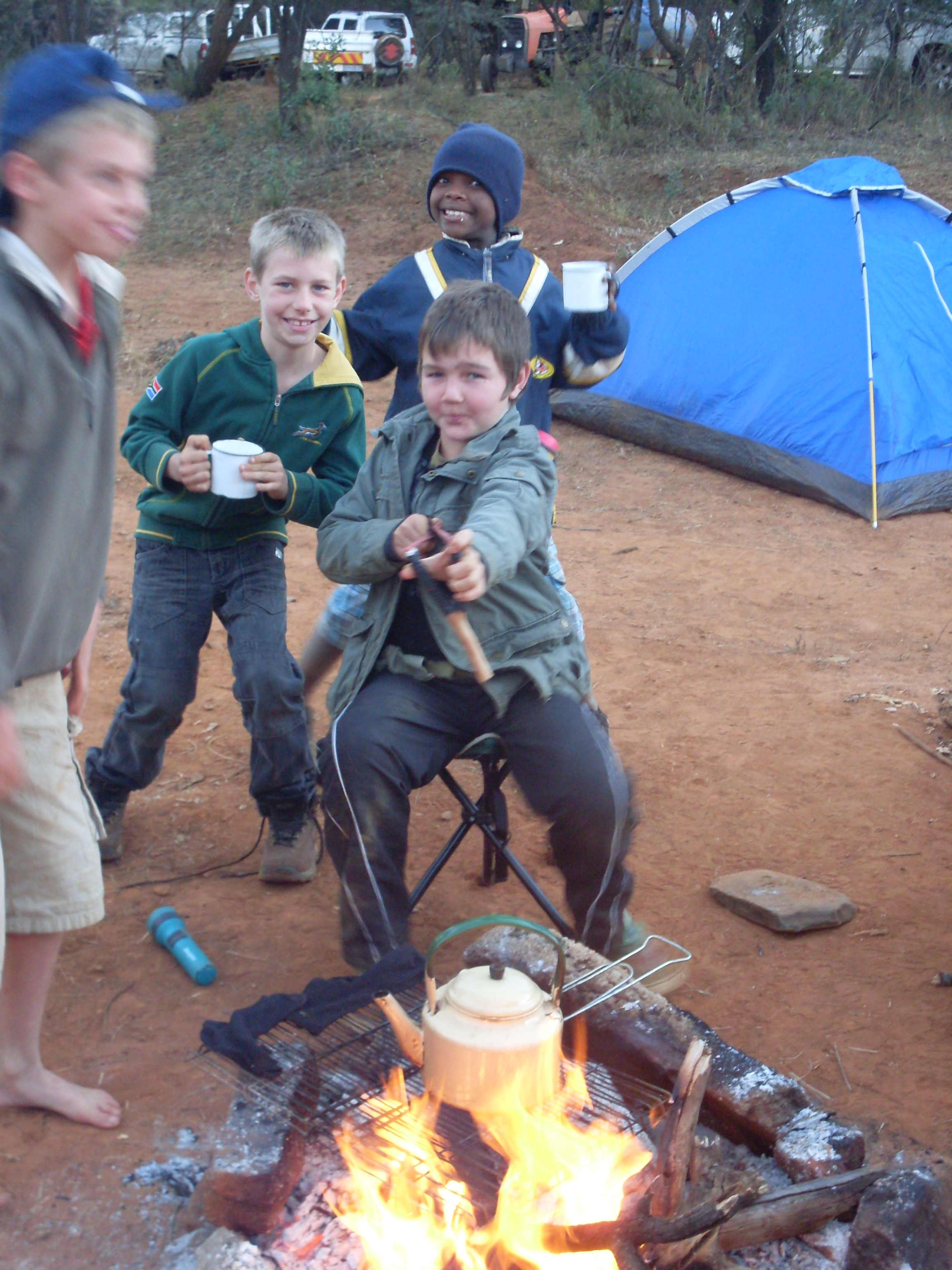 Junior Rangers camp out